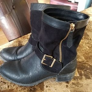 Size 5 Boots by Charles David Gold Buckle n Zip